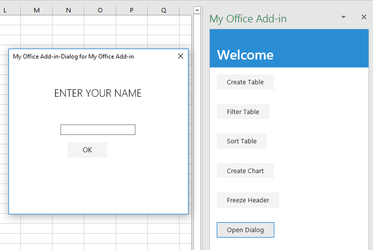 Excel add-in tutorial - Office Add-ins | Microsoft Docs