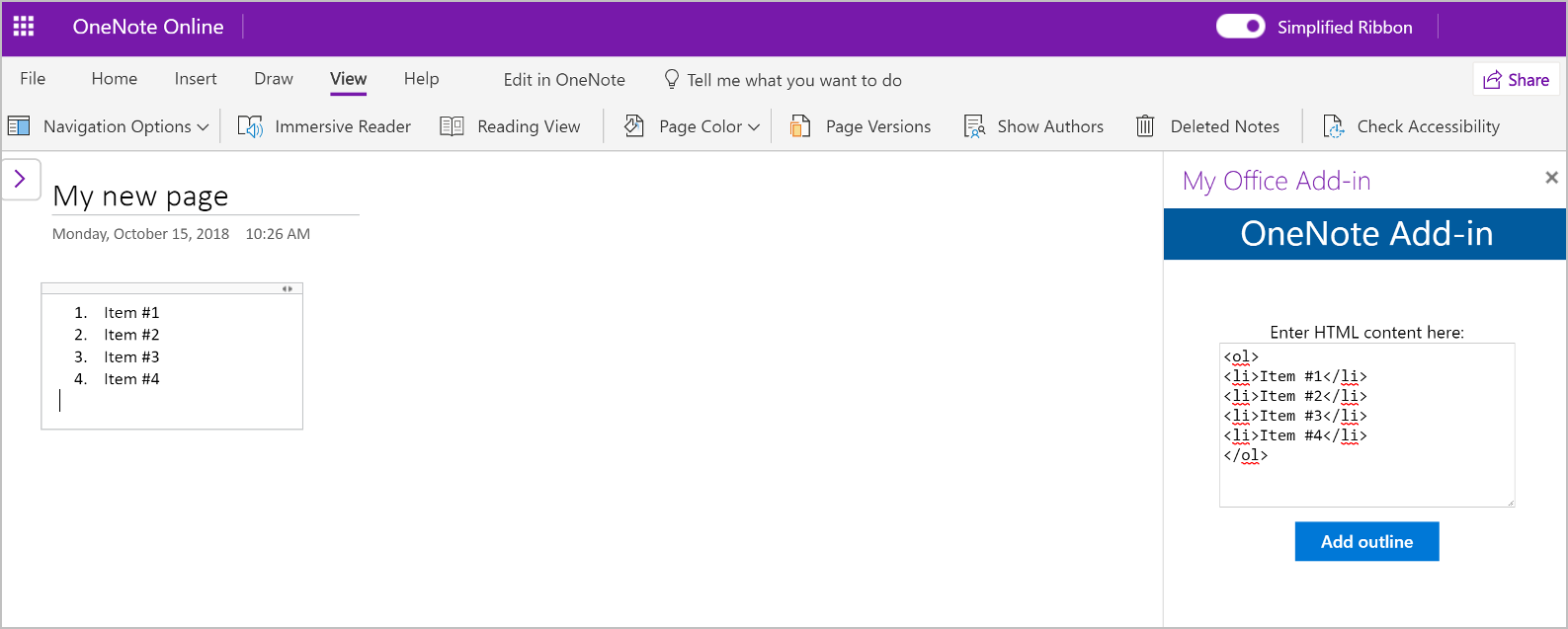 Build Your First Onenote Add In Office Add Ins Microsoft Docs