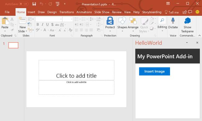 PowerPoint add-in tutorial - Office Add-ins | Microsoft Docs