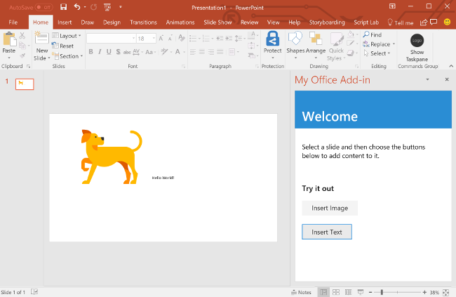 how to add in text comment on powerpoint