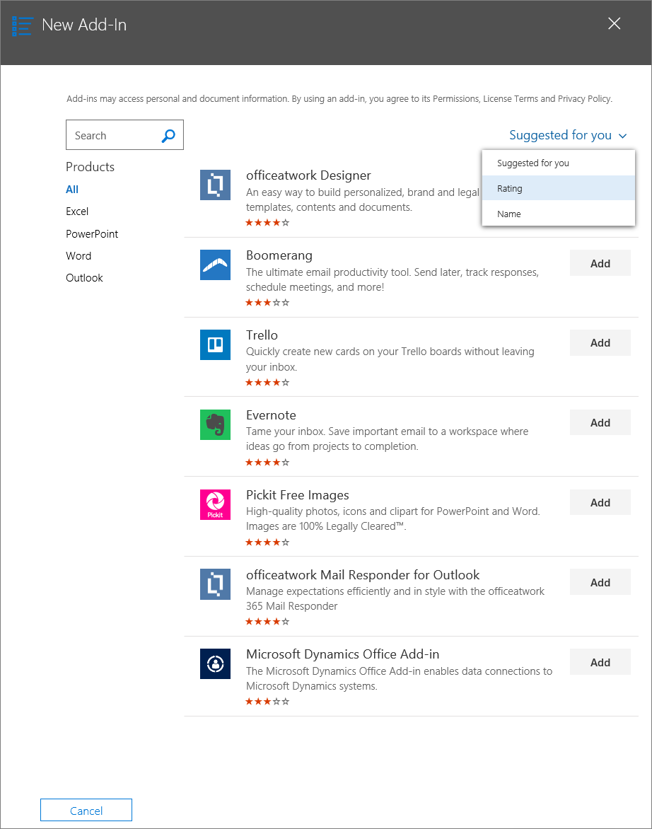 Publish Office Add-ins using Centralized Deployment via the