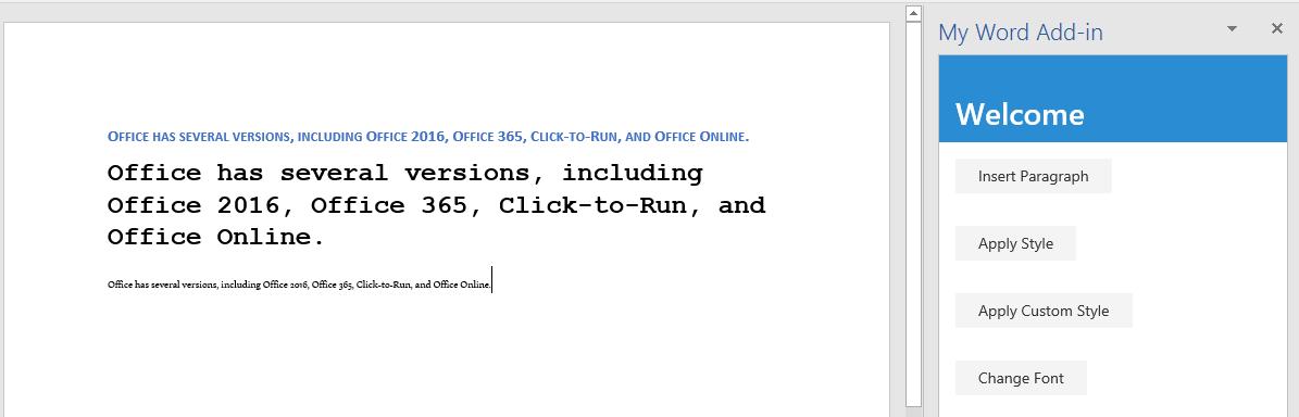 Word add-in tutorial - Office Add-ins | Microsoft Docs