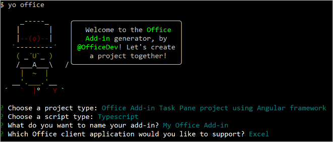 Build an Excel task pane add-in using Angular - Office Add