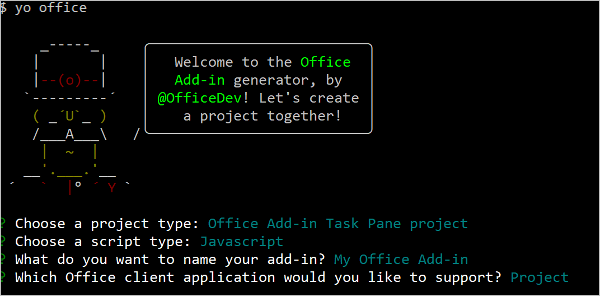 Build your first Project task pane add-in - Office Add-ins