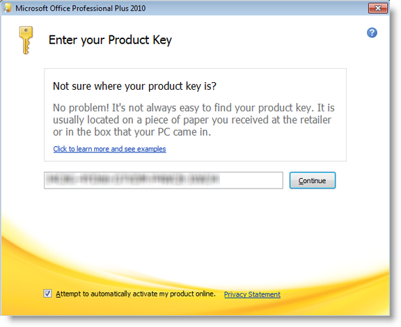 microsoft office 2007 asking for product key again