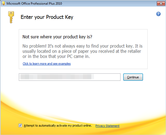 office produkt key verloren