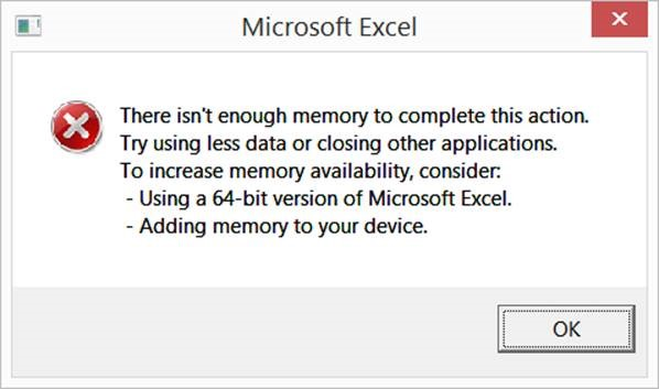 Clean up an Excel workbook so that it uses less memory