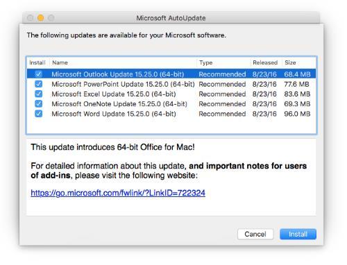 Office 2016 mac install_verification_failed_alert_info