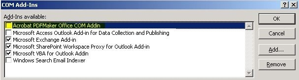Incompatibilities Between Adobe Acrobat Pdfmaker Office Com Add In And Office Programs Office Microsoft Docs