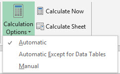 Excel performance - Improving calculation performance