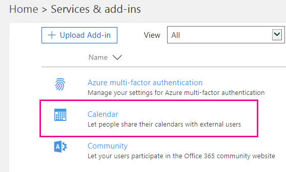 Share Calendars With External Users Microsoft Docs