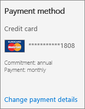Change your payment method for Office 365 for business | Microsoft Docs