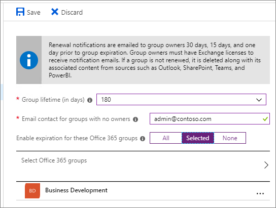 Office 365 Group Expiration Policy | Microsoft Docs