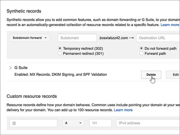 Google gmail domain name