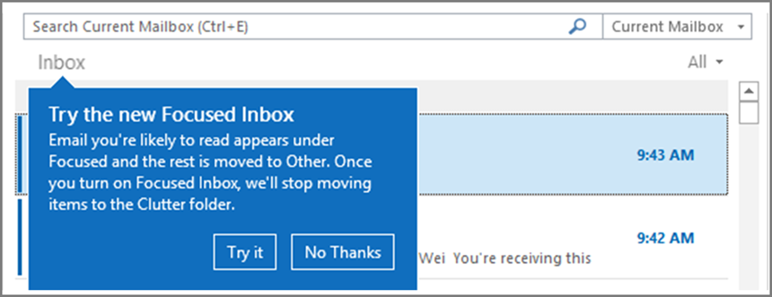 Configure Focused Inbox for everyone in your organization