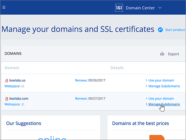 Create DNS records at 1&1 IONOS for Office 365 | Microsoft Docs