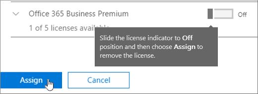 Remove licenses