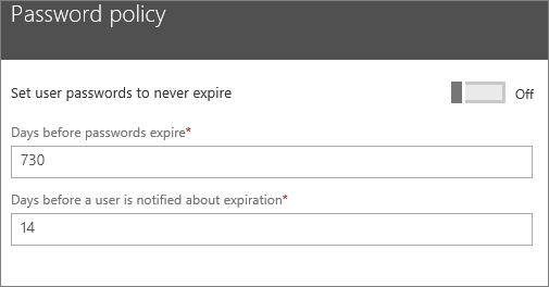 Enter how often passwords should expire