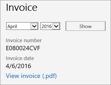 view your bill or invoice microsoft docs