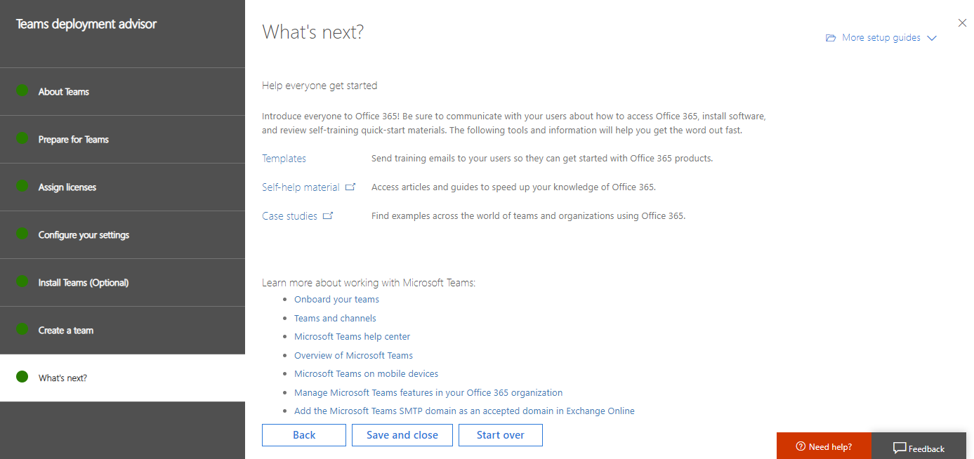 Deployment advisors for Office 365 services   Microsoft Docs