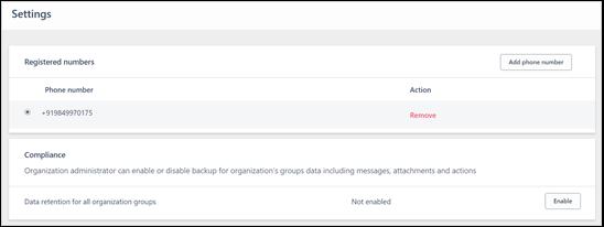 Back up and export organization data in Kaizala | Microsoft Docs