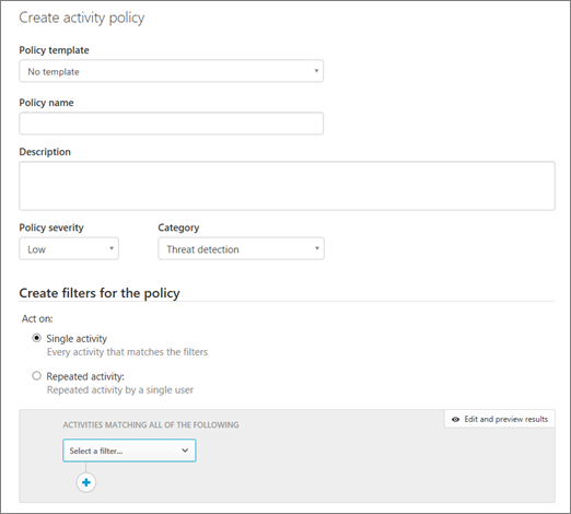 Activity Policies And Alerts In Office 365 Cloud App Security
