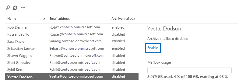 What Does It Mean To Archive An Email >> Enable Archive Mailboxes In The Security Compliance Center