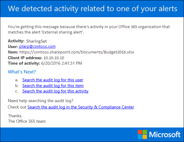 Create Activity Alerts In The Office 365 Security Compliance
