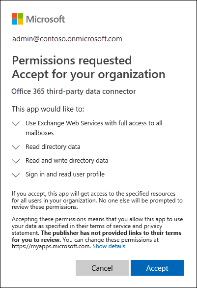 Work with a partner to archive third-party data in Office