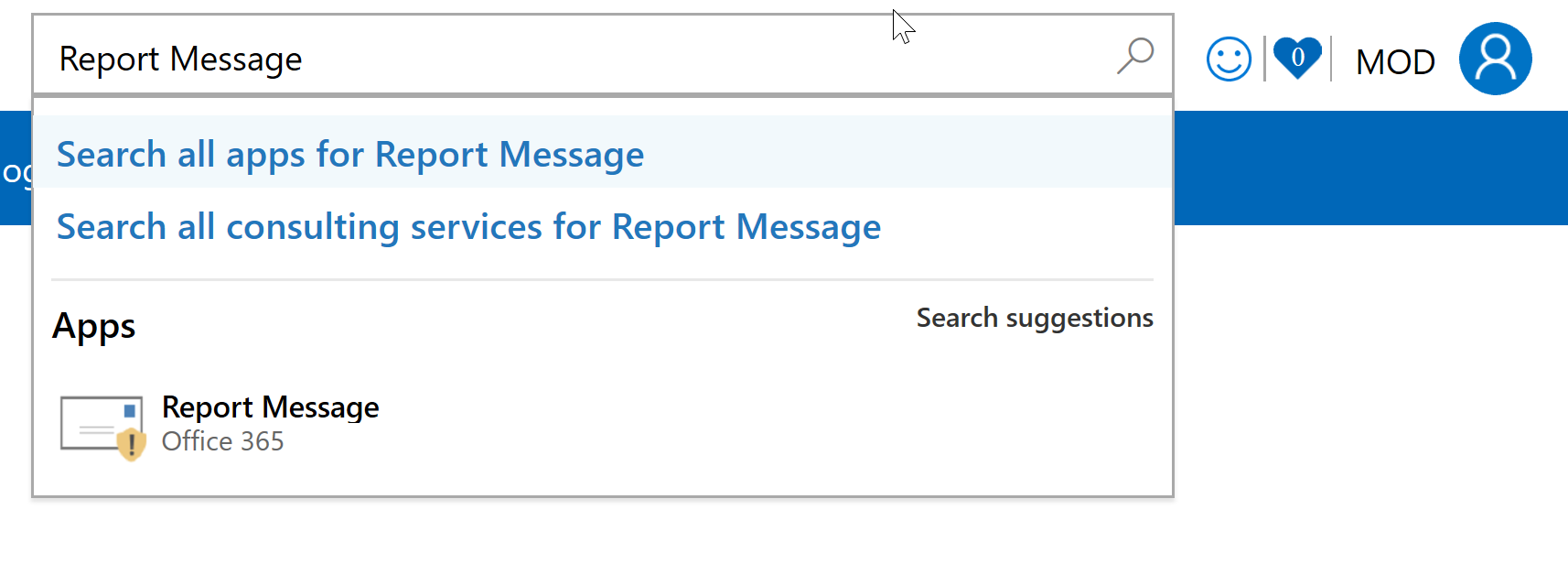 Search for Report Message