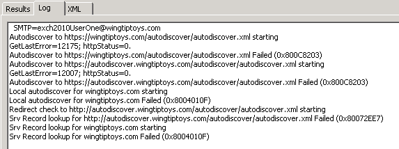 Unexpected Autodiscover behavior if settings under the