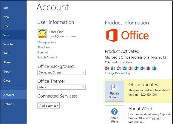 Automatic Updating For Microsoft Office Is Not Enabled Office 365 Microsoft Docs