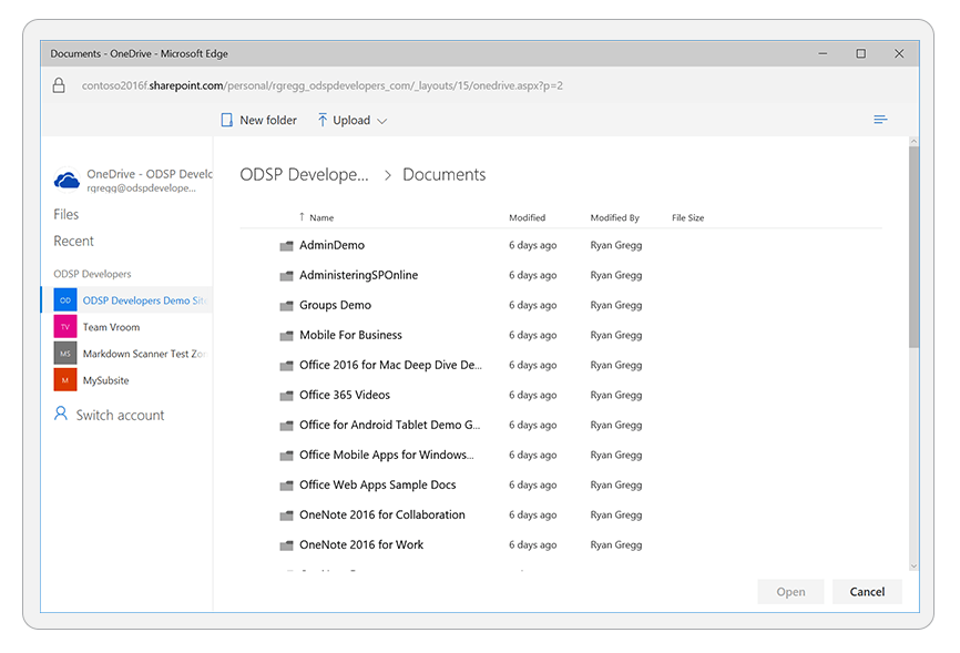 File Picker SDK for JavaScript - OneDrive - OneDrive dev