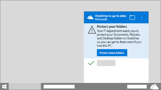 Redirect and move Windows known folders to OneDrive