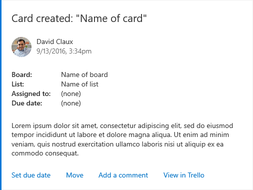 An Example Trello Card