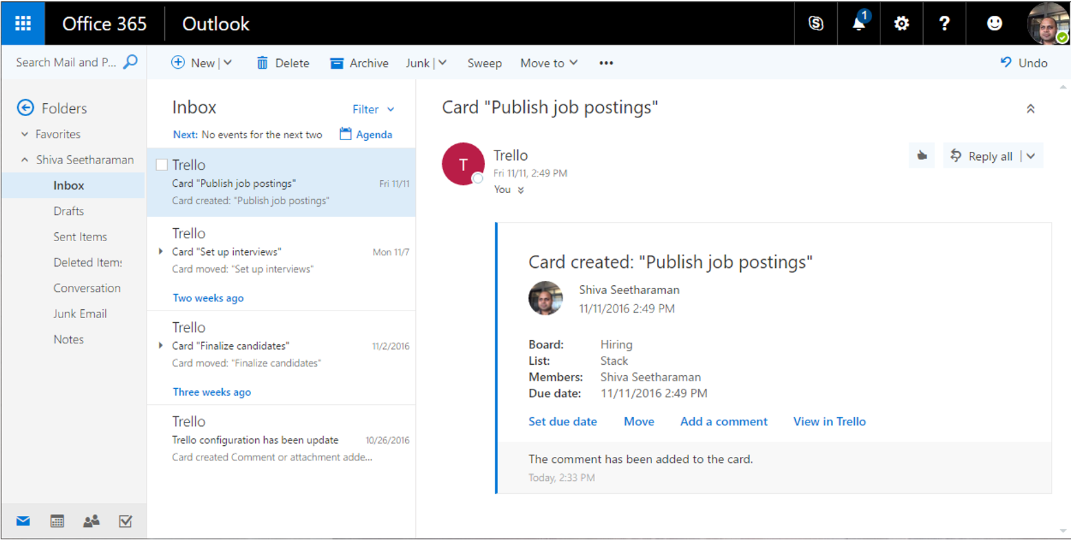 What are actionable messages in Office 365? - Outlook