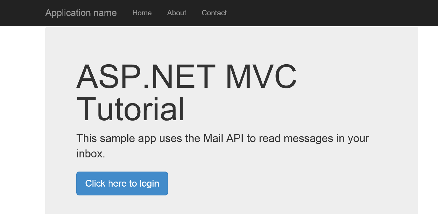 how to use outlook rest apis in an asp mvc app - outlook