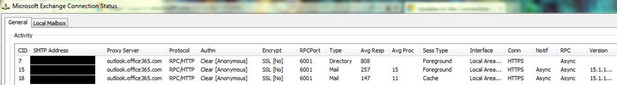 Description Of The Connection Status Dialog Box Outlook Microsoft Docs