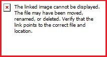 screenshot of the error details