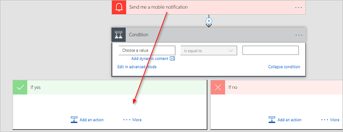 Add a condition to a flow - Microsoft Flow | Microsoft Docs