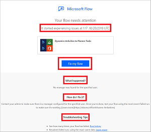 Troubleshooting a flow - Microsoft Flow | Microsoft Docs