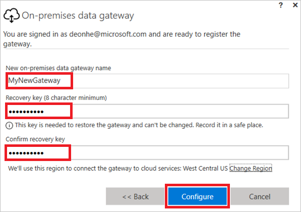 Configure a new gateway