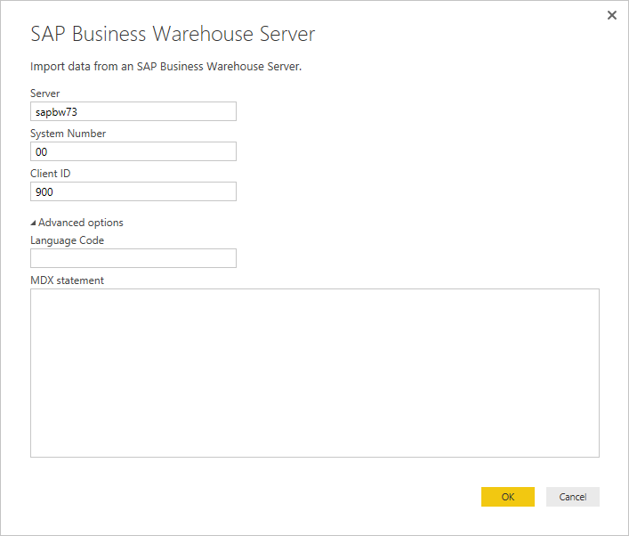 Use The Sap Business Warehouse Bw Connector In Power Bi Desktop Power Bi Microsoft Docs