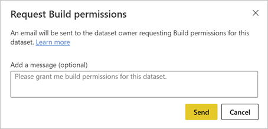 Screenshot of default Build permission request dialog.