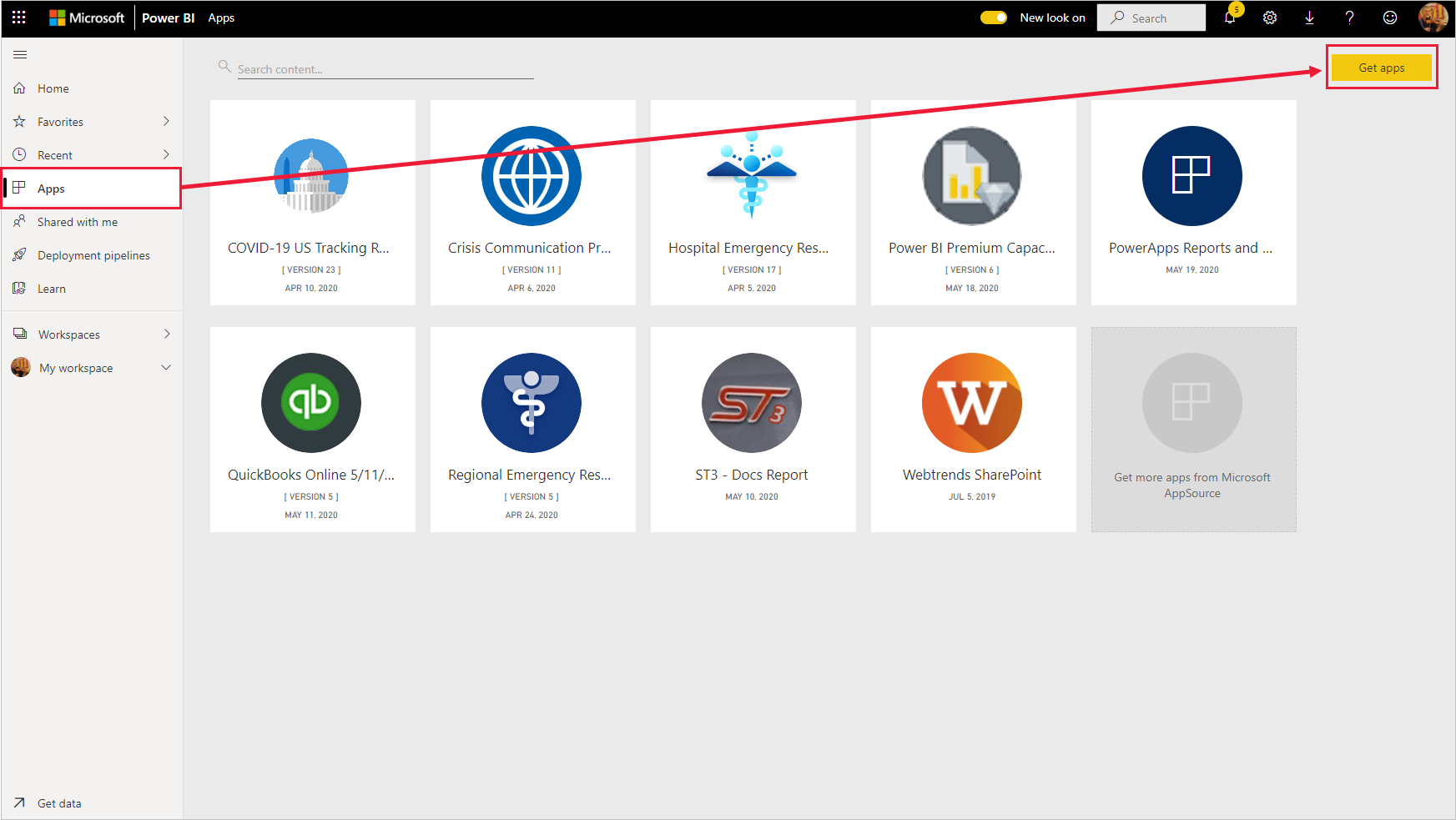 Install and distribute template apps in your organization - Power BI |  Microsoft Docs