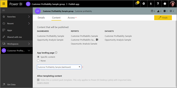 publish apps with dashboards and reports in power bi power bi