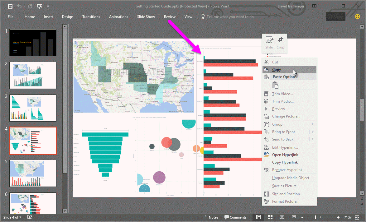 Export reports from Power BI to PowerPoint - Power BI
