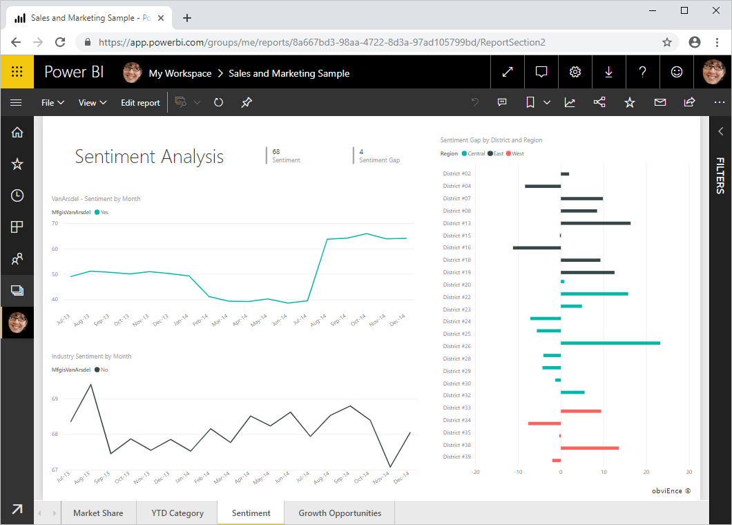 Change the display size and ratio of a report page - Power BI