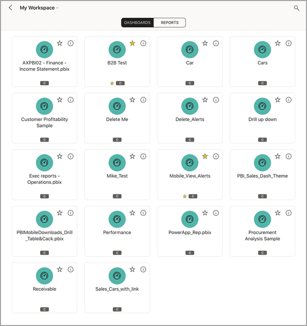 View dashboards and reports in the Power BI mobile apps - Power BI