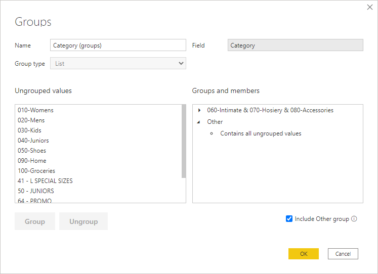 Use Grouping And Binning In Power Bi Desktop Power Bi Microsoft Docs